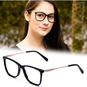 Armação Oculos P/ Grau Feminino Pr16 Acetato Metal Original