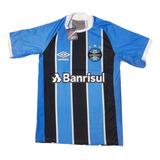 Camisa Do Grêmio Nova Listrada Tradicional Azul Degradê Time f14b73956063e