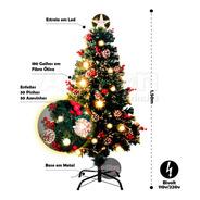 Árvore De Natal Fibra Ótica Led Super Luxo 1,50m
