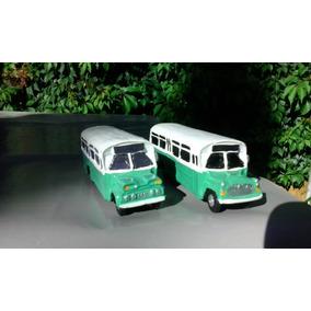 Autobus Clásico Cd/mx Pistache Escala 1:72 (paq. Con 2)