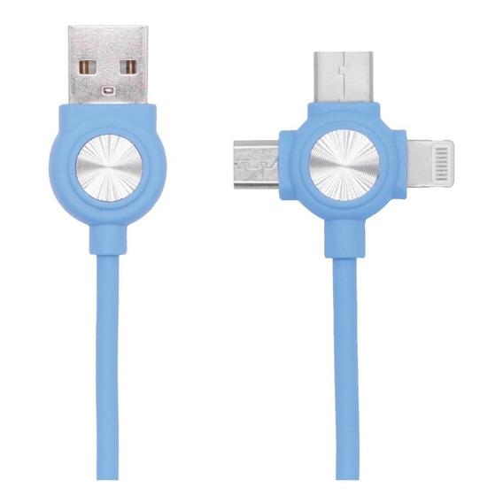 Cable Usb C Micro Usb 1 Metro 3 En 1 Envio