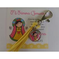 Llaveros Gamuza Souvenir Personalizados X 15.comunión-cumple