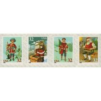 Col 01849 Eua 2446/49 Papai Noel Criança Com Briquedos Nnn