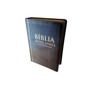 Bíblia De Estudo King James Atualizada Letra Grande Fret Gra