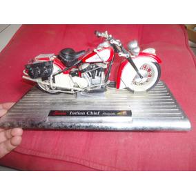 Miniatura Motocicleta Indian Chief Roadmaster Saico Antiga
