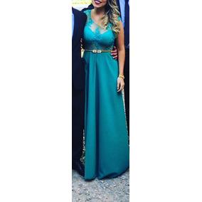 Vestido Fiesta Encaje Verde Divino Envío Gratis