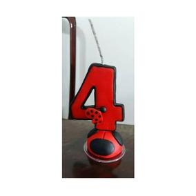 Vela De Aniversário - Tema: Ladybug - 4 Anos- Pronta Entrega