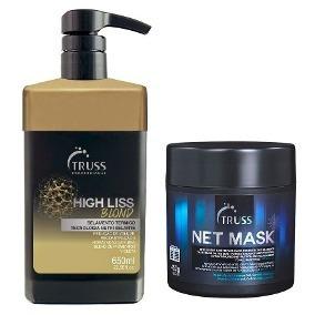 Truss High Liss Blond Loiras Selamento Térmico E Mascara Net