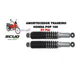Amortecedor Traseiro Scud Honda Pop 100 2007 A 2014 ( Par )