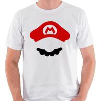 Camiseta Mario Camisa Blusa Bigode Nintendo Bros Luigi