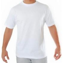 50 Camisetas Lisas Brancas 100% Algodão Fio 24 Atacado