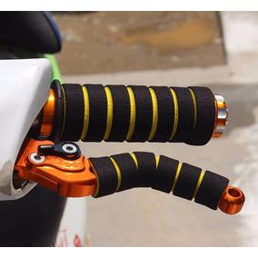 Kit Manete E Manopla Grip Capa Esportivo Punho Bike Ou Moto