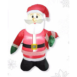 Figura Navideña Inflable Santa Claus 80 Cm