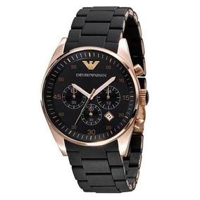 Relógio Luxo Emporio Armani Ar5905 Preto Rose Original Sw10