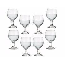 Conjunto De Taças Vidro 250ml P/ Vinho,água,suco - 4 Peças