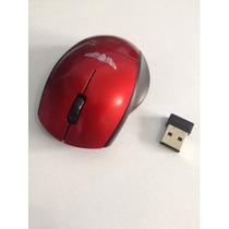 Mini Mouse Wireless S/ Fio 2.4ghz 10 Metros Usb Pc Vermelho
