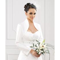 boleros novia manga larga color ivory todas las tallas
