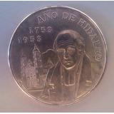 Moneda 5 Pesos Plata Año De Hidalgo 1953