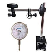 Base Magnética 60kg Articulada C/ajuste + Relógio Comparador