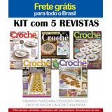 5 Revistas Tapete Tapeçaria Croche Fio Barbante Frete Gratis