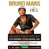 2 Entradas Bruno Mars Occidente 1 Fila 35