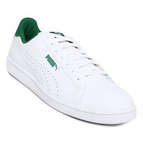 Tenis Puma Smash Verde Con Blanco Juvenil