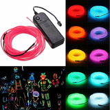 Tira Cinta Led Neon Flash Flexible Fluor 1 Mts A Pila