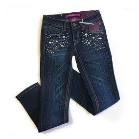 Jeans Vigoss Mezclilla Con Gemas Para Niña Talla 7 Años