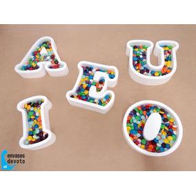 Letras Y Figuras Huecas 16cm Golosinas Candy Bar - Souvenir