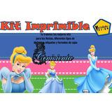 Kit Imprimible Cenicienta,invitación,tarjeta;fiesta Y Mas