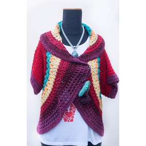 Cardigan Tejido A Mano - Sweaters Artesanales Diseños 2017
