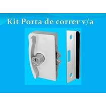 Kit Porta De Correr Vidro Alvenaria Para Vidro Temperado