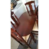 juego de comedor con y sillas color caoba