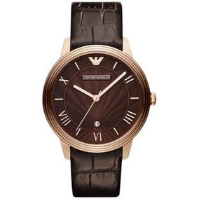 Emporio Armani Brown Croco Leather Mens Watch Ar1613