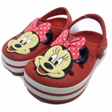 Babuches Infantil Meninas Minnie Mouse Vermelha