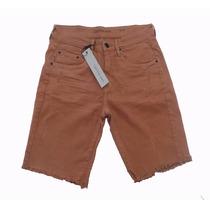 Bermuda Masculina Calvin Klein Jeans Original Nova Marrom 40