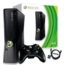 Xbox 360 + 10 Jogos C/1 Controle S/fio -- Game Semi-novo