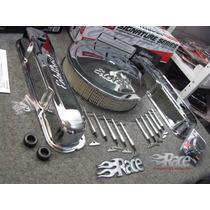 Edelbrock Dodge 318 360 Mopar Kit Cromado Tapas Filtro Etc.