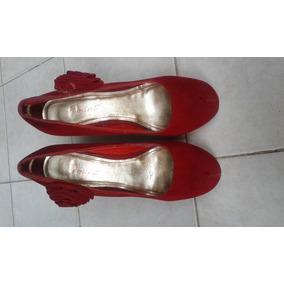 Tacones Rojos De Gamuza Talla 39