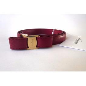 Cinturón Salvatore Ferragamo Original Para Mujer Color Fusci