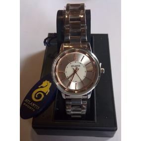 a8bdb002d70 Relógio Atlantis Feminino Rosé Com Prata - Relógios no Mercado Livre ...