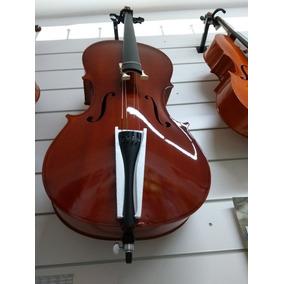 Violoncelo Concert 3/4*4/4 C/ Bag Luxo E Arco. *somos Loja*
