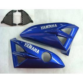 Aba Tanque Ybr125 Azul 2000 2001 Par Serjaomotopecas