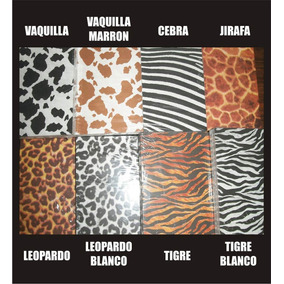 Cartulina Decorativa Animal Print Tarjetería Manualida 25und
