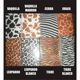 Cartulina Decorativa Animal Print Tarjetería Manualida 25und