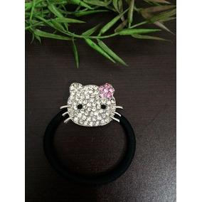 Liga Para Cabello Hello Kitty Cristales Imitacion Swaroski