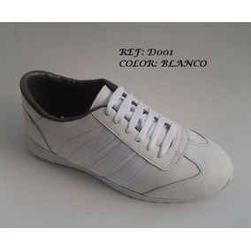 zapatos Deportivos Blancos En Cuero Ropa Accesorios y Accesorios Ropa en Mercado d2bdd0