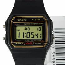 Relógio Casio F-91wg-9q Original Na Caixa Série Ouro