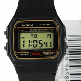 Relógio Casio F-91wg-9q Original F91 Na Caixa Série Ouro