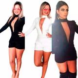 Macacão Macaquinho Anga Longa Modelo Anita